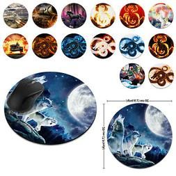 Designer Circle Soft Mouse Pad Non-Slip Rubber For Home Offi