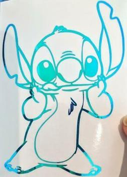 disney s stitch holding face vinyl decal