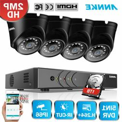 ANNKE 8 Channel 1080N DVR 1800TVL CCTV IR Security Camera Sy