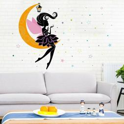 Princess Elf On The Moon Wall Stickers For Kids Room Living