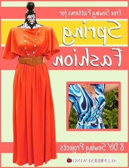Free Sewing Patterns for Spring Fashion:  8 DIY Sewing Proje