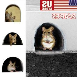 Funny Mouse Hole Decal Art Sticker for Home Door Stair Windo