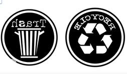 GRUNGY RECYCLE TRASH DECAL STICKERS