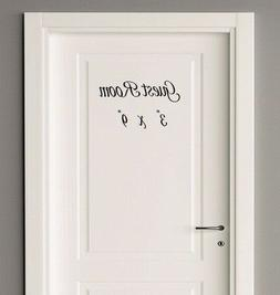 Guest Room Dressing Room Bunk House Door Decal sticker for h