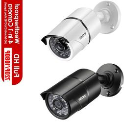 ZOSI HD 720p/2MP 4in1 Outdoor Day Night 100ft IR Cut CCTV Bu