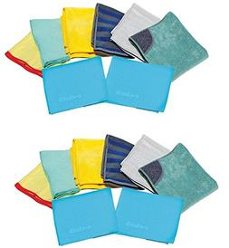 e-cloth Home Cleaning Set, 8 Piece - 2 Pack