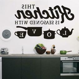 Home Decor Removable Kitchen Wall Sticker Vinyl Decal for Be