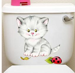 iew civid 20*30cm cats wall stickers for kids rooms bathroom