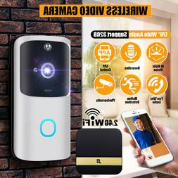 IR Night Vision 2.4G 1080P Smart Doorbell with Indoor Chime
