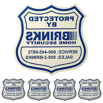 1 HOME SECURITY YARD SIGN and 4 STICKERS / DECALS FOR DOORS