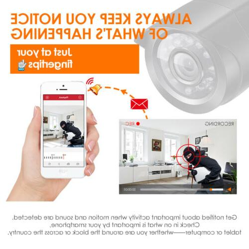 ZOSI 1080P HDMI 8CH 720p Outdoor CCTV Home Camera System