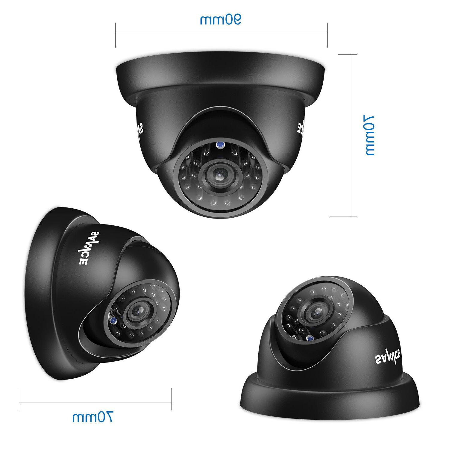 SANNCE 8CH IR Security Camera System 1TB