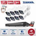 ANNKE 1080P POE 8CH / 4CH 6MP DVR Outdoor IP Bullet CCTV Sec