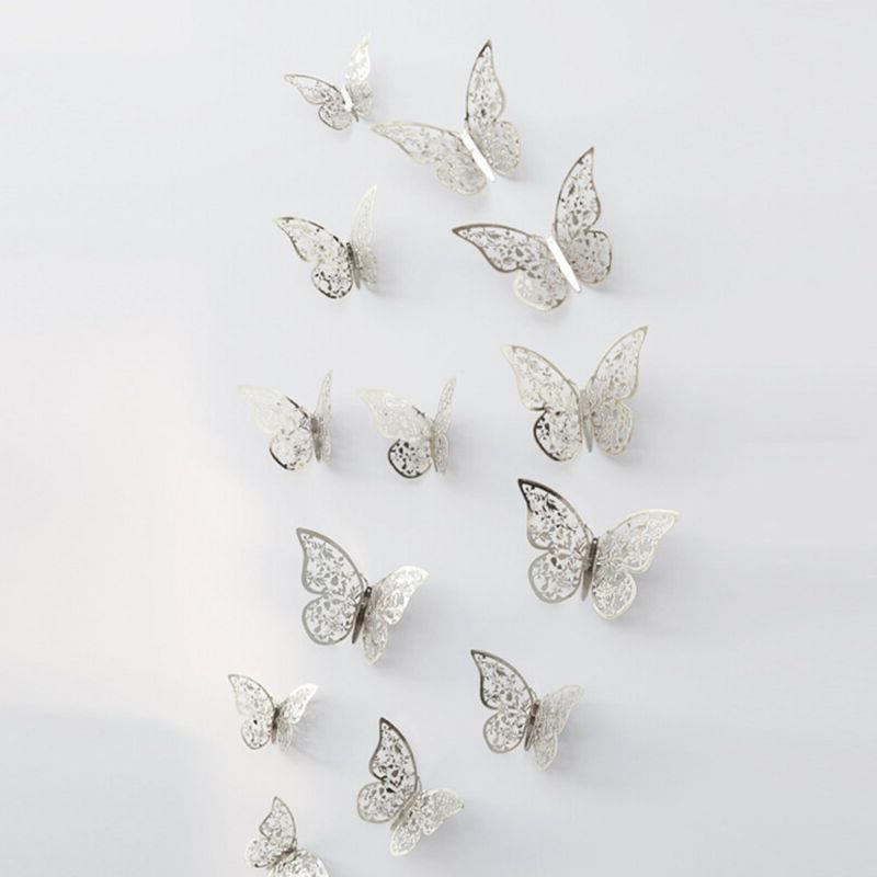 12 3D Wall Stickers Butterfly for Home US