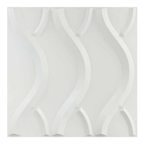 12pcs 3D Wall Panels PVC Line Modern Design 19.7×19.7""