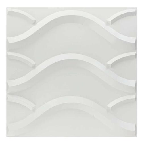 12pcs Wall Panels PVC Waterproof Line Modern 19.7×19.7""