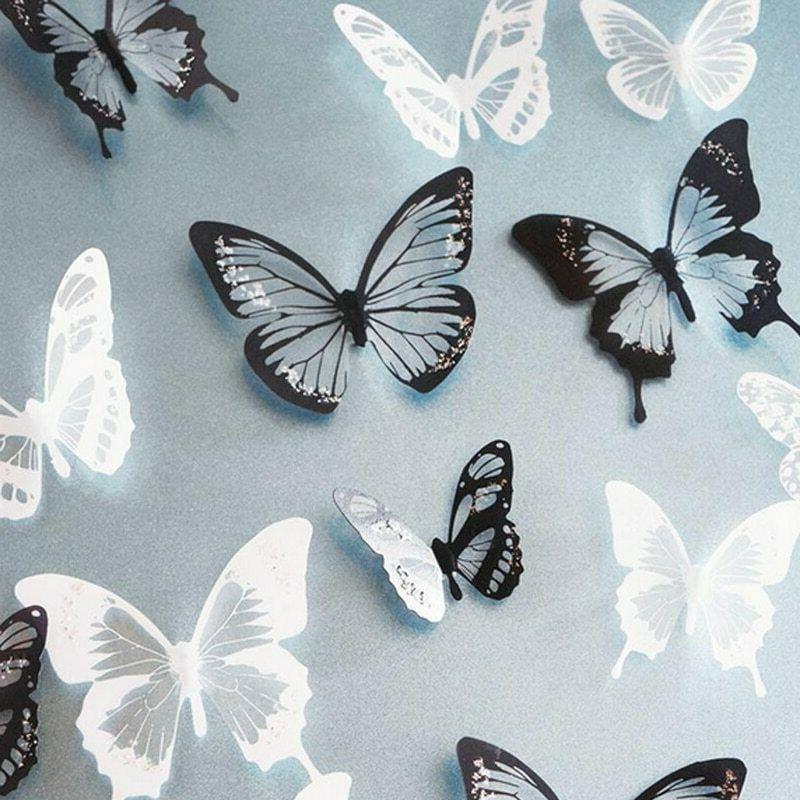 18pcs lot 3d crystal butterfly wall sticker