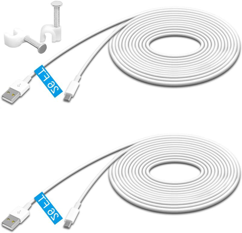 2 pack 26ft power extension cable