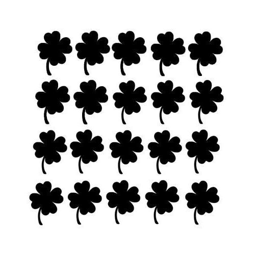 20 Shamrock for Decal Home Window Room Envelope Cup
