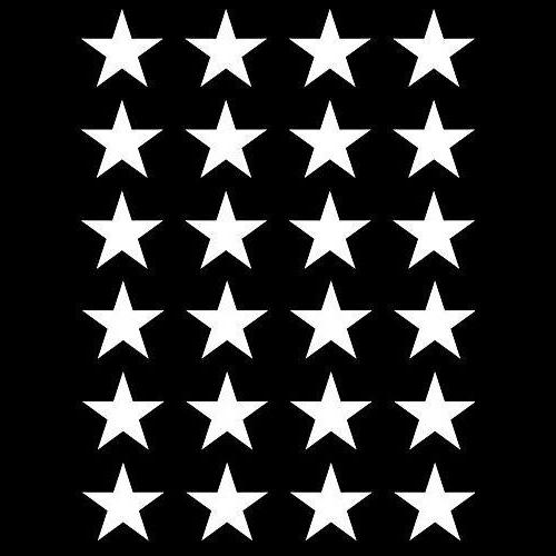 24x Small Stars Vinyl Decal Stickers Home Window wall DIY wallpaper