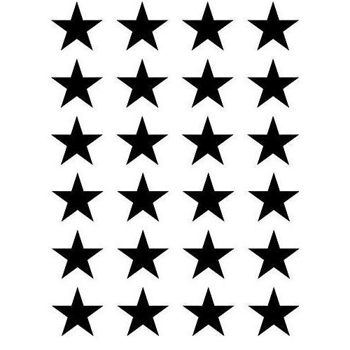 24x 1 5 small stars vinyl decal
