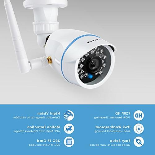 KAMTRON Wireless Security Camera,Outdoor WiFi Surveillance