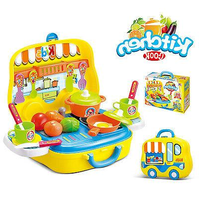 25pcs Playsets For Kids Pretend Kitchen Toddlers Sets Toy Ho