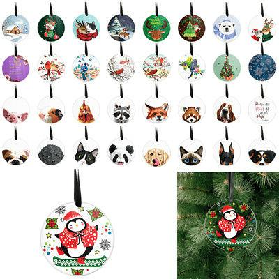 3 round acrylic hanging ornaments for xmas