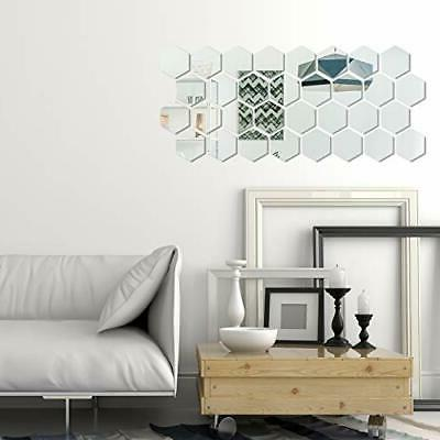 32 Pieces Removable Mirror Setting Decal Home Ro