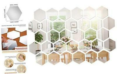 32 pieces removable acrylic mirror setting wall