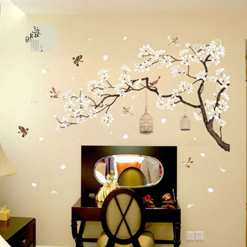 3D Flower Tree Removable Mural Wall Sticker Room Home SG