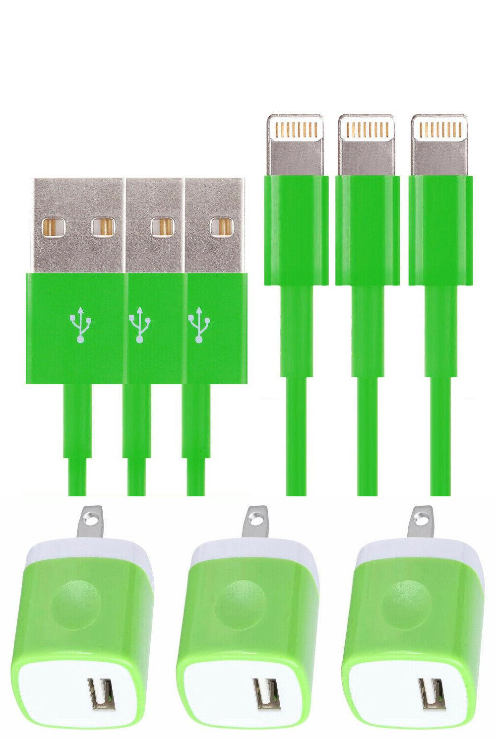 3X Color AC Charger 6 8 Sync USB Cable Cord