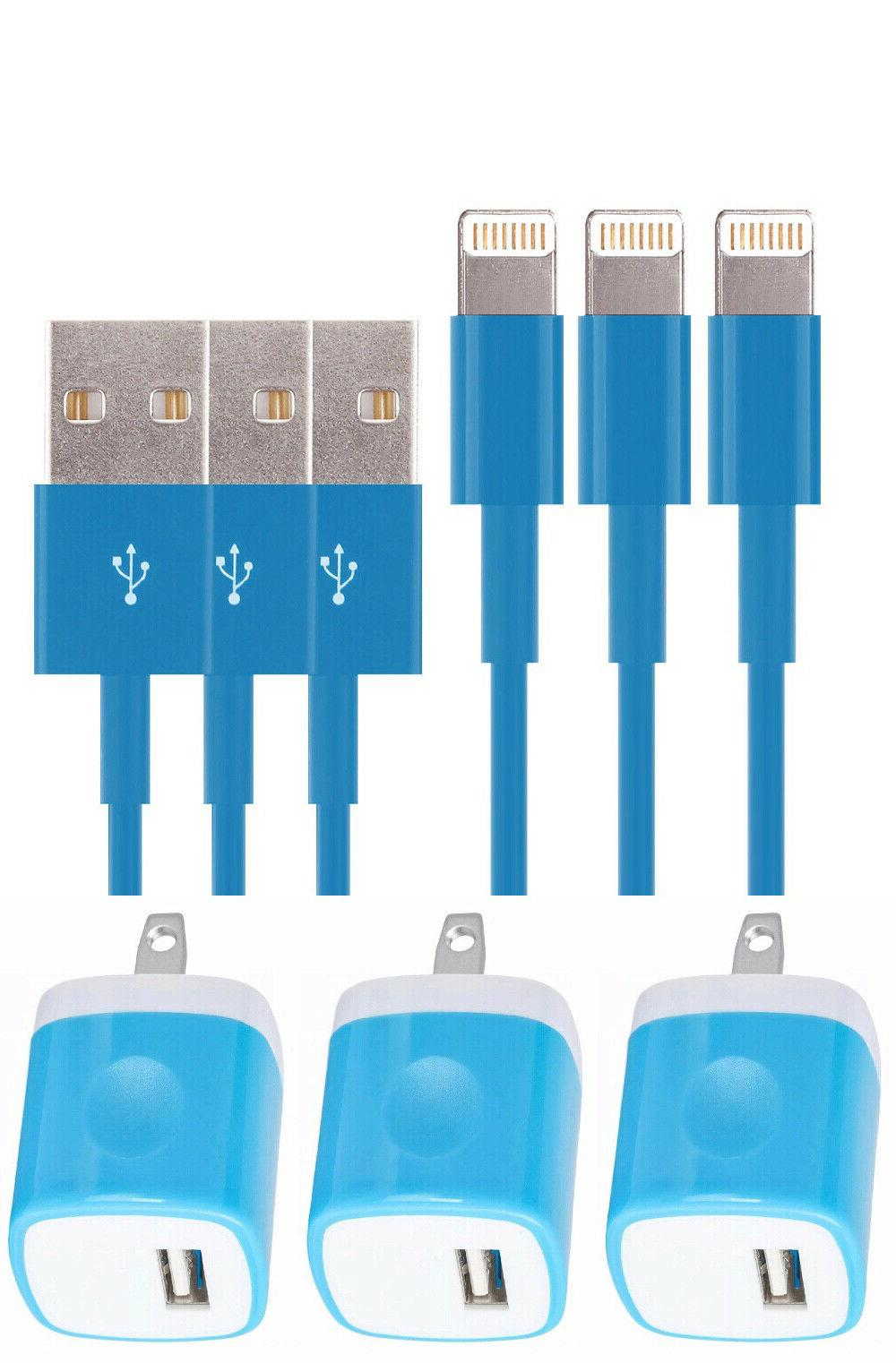3X Color AC Charger 6 X Cable