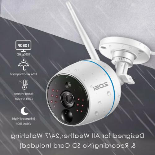 ZOSI 1080p 4CH Mini NVR 2 Outdoor Security