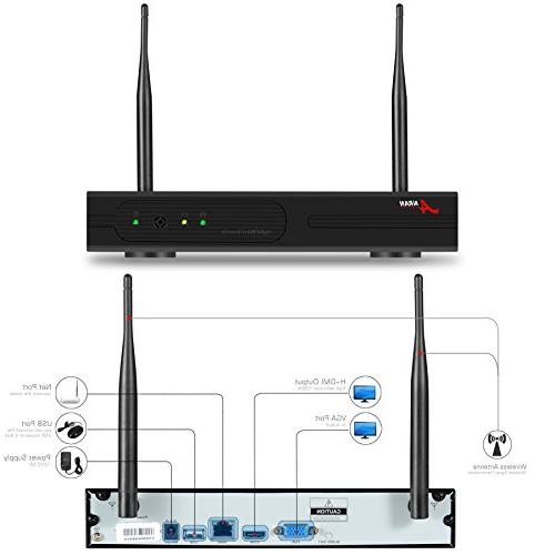 ANRAN 4CH 720P Wireless Security with 4 WiFi 1.0 Megapixel 720P HD IP Network 1TB
