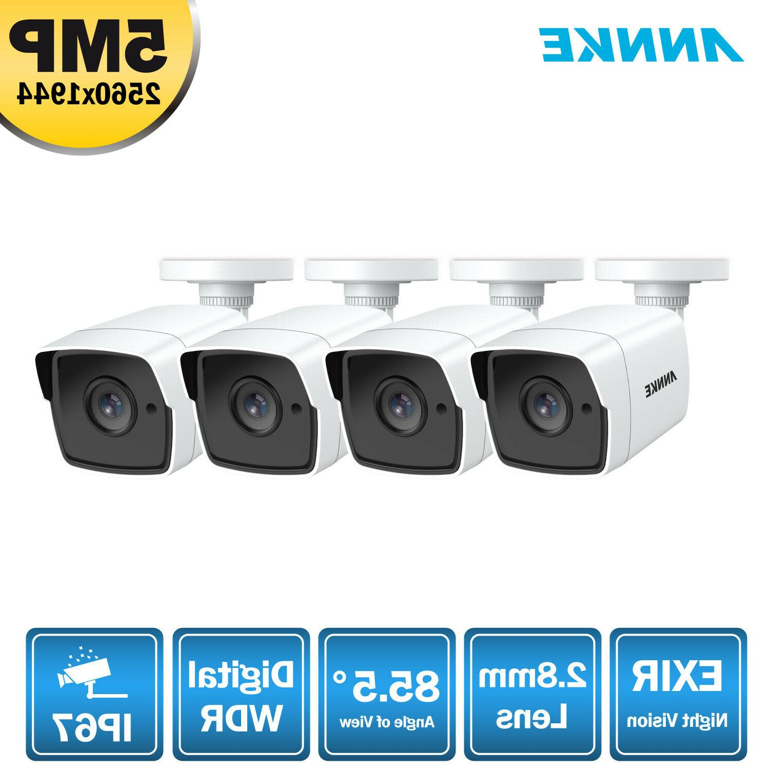 ANNKE 4x 5MP CCTV Camera for Surveillance System
