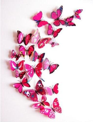 72 Pcs Decal Butterfly Wall Sticker Decals for Home Nursery Decor