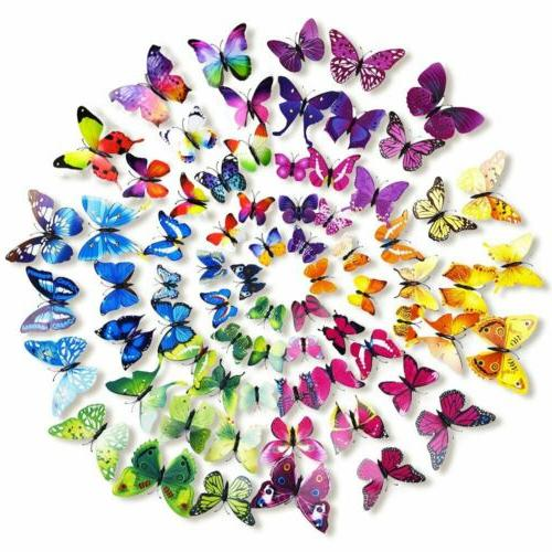 72 pcs 3d wall decal butterfly wall
