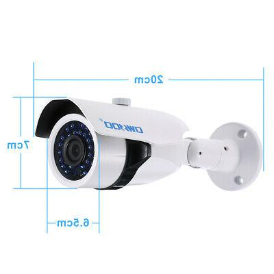 OWSOO 720P Bullet Camera Outdoor Night for Home Security System R6R5