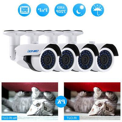 OWSOO 720P CCTV Bullet Camera Outdoor IR-CUT Night Vision fo