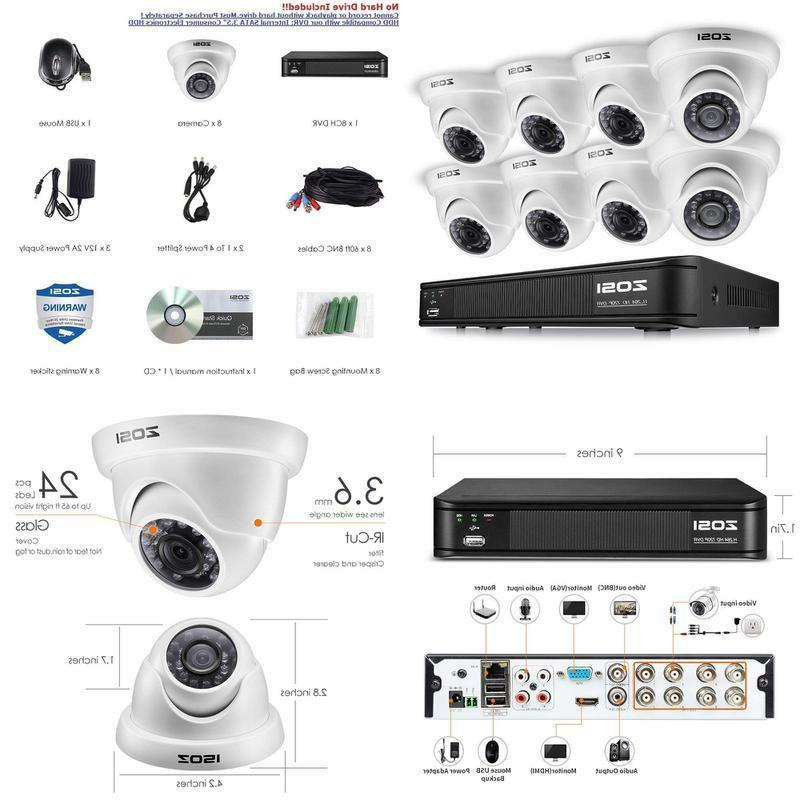 720p dome camera system for home 1080n
