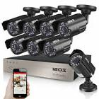 ZOSI 8CH 1080P CCTV DVR 1500TVL Outdoor 720P Night Vision Se