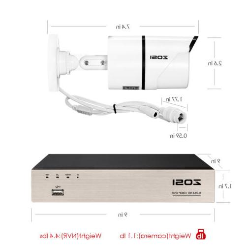 ZOSI 8 Channel POE IP Security System 8 NVR