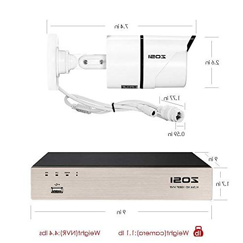 PoE System,8CH 1080P Surveillance 8x2.0 Megapixel Outdoor Indoor Night Hard Ethernet