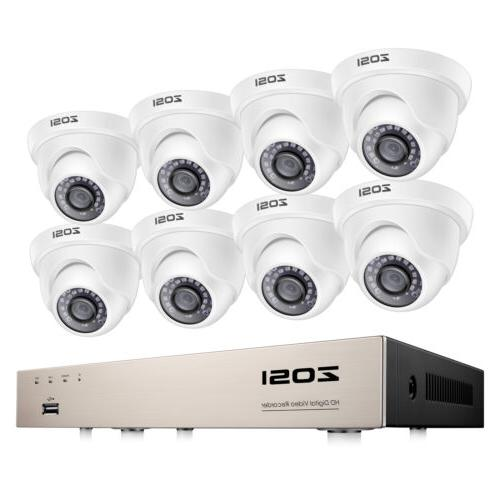 8ch outdoor dome surveillance security camera system