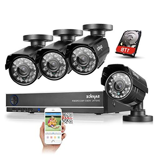 ANNKE Channel Security Camera 5-in-1 DVR with Surveillance Hard Disk and 1080P Bullet Cameras, alert with images