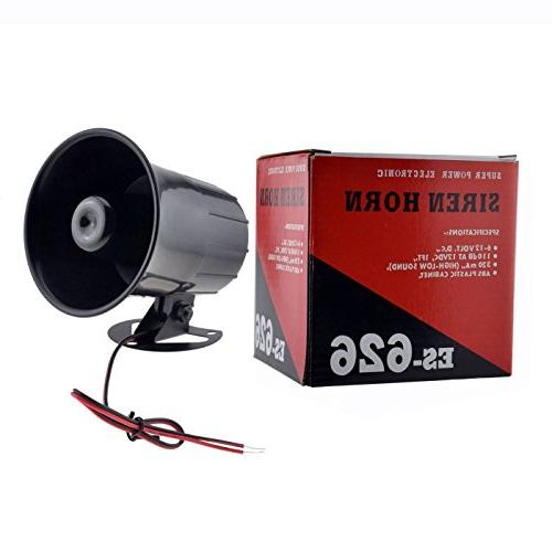 XINFLY Wired Alarm Siren Horn 12V Outdoor for Security System
