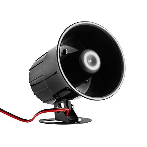 XINFLY Wired Alarm Horn 12V Outdoor Bracket for System