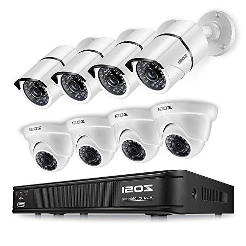 ZOSI 1080p HD-TVI Home Surveillance Camera System,8 Channel
