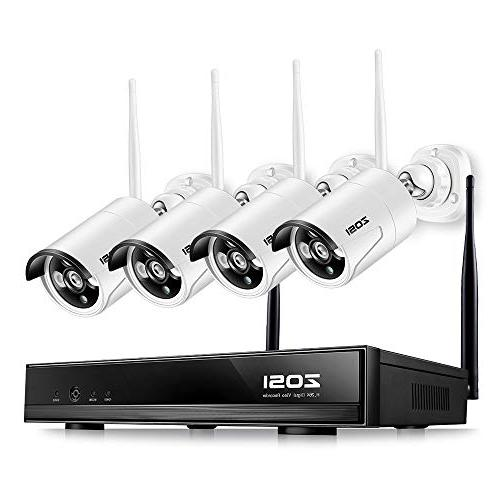 ZOSI Wireless Security Cameras System, 4CH 1080P HD Network